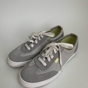 Gray Keds Ladies 8 Jersey and Suede
